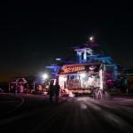「ビカビカ・ジャパン、ビーチクリーン&ライトアップ」再生燃料で照らしだされる富津岬展望台の写真(32枚)