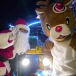 トゥクトゥクサンタが富津岬に登場!エコパーティと光の共演で子ども達大喜び