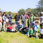 富津フンチ愛好会による「フンチ取り教室」ボーイスカウトの子どもたちと一緒に