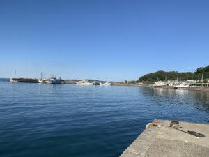 萩生港での景色